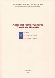 Portada del I Congrés Català de Filosofia